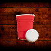 Red cup and Pong Wood Backdrop