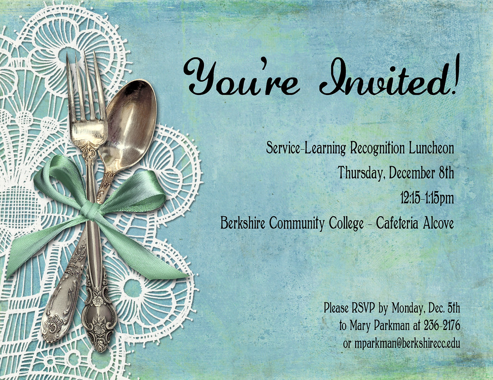 Invitation Design (client: BCC Service-Learning)