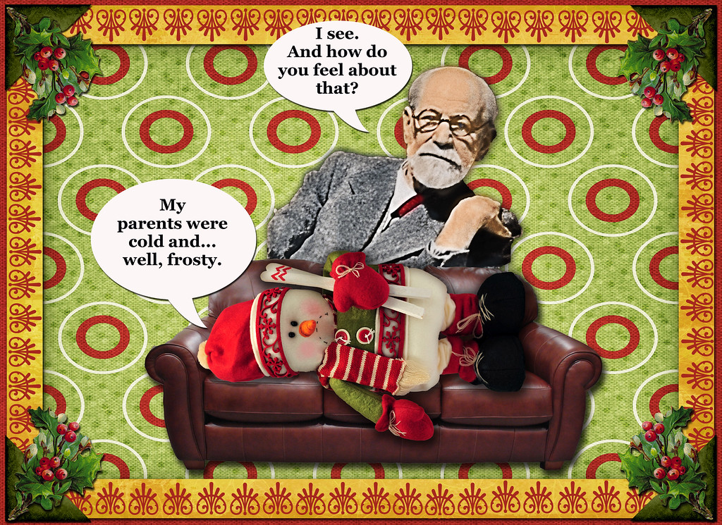 """Freudian Christmas"" Greeting Card (front)"