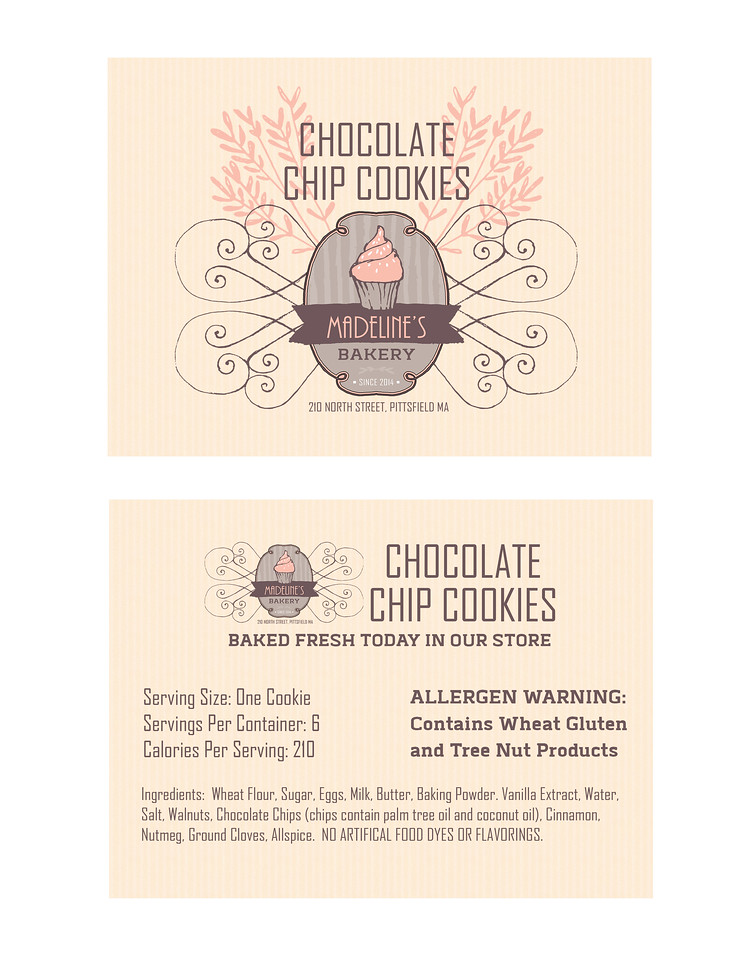 Sample Label (client: Madeline's Bakery)