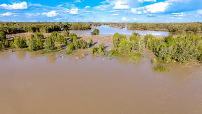 Thomson River Weir in Flood Longreach