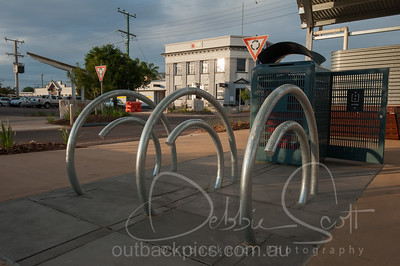Street furniture Eagle Street Longreach