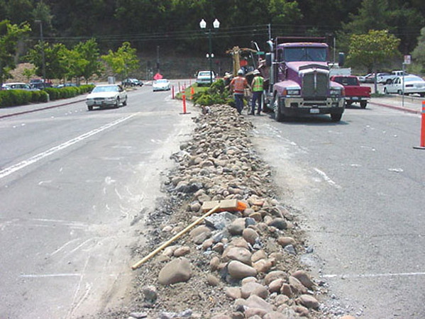 After a complete redesign by AvidGreen, this project began by complete demolition of the existing median.