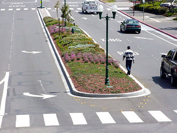 A final inspection of the transformed median.