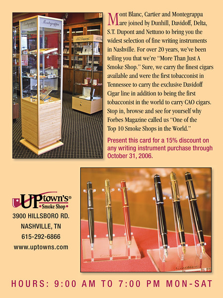 Retail store direct mail brochure