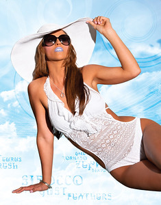 Empire Faces was the beauty & makeup team for the 2011 swimsuit issue for Health & Fitness Magazine. Fashions courtesy of Saks Fifith Avenue: Swimsuit by Ralph Lauren; jewelry by Ippolita; Hay by Grace Hats; Sunglasses by Dior. Design work Adrian Douglas HFSM; Model: Kallye Mitchell. Styling: Hair by Donna Retif; Airbrush makeup & lashes by Lara Toman & Bethany Austin, artists of Empire Faces.