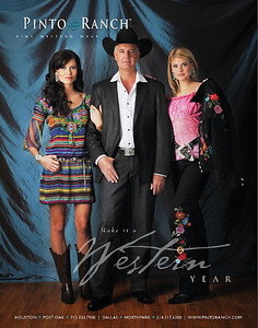 Pinto Ranch ad, for 2010 November issue Texas Monthly Magazine, photography by Empire Faces. Airbrush makeup by Lara Toman & Giovanna Carbajal; Styling by Vickie Cross of Empire Faces. Photography by Toman Imagery
