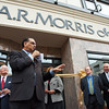 AR Morris Wilmington store opening at 802N Market Street;  Wilmington Mayor James Baker speaking at the opening