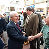 AR Morris Wilmington store opening at 802N Market Street:  Albert R. Morris shaking hands at the opening
