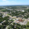 Aerial photo of Dyer, Indiana over US 30 (Joliet St, Lincoln Highway) - August 2012