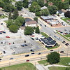Aerial photo of Dyer, Indiana over US 30 (Joliet St, Lincoln Highway). Foodie's Market Cafe - August 2012