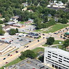 Aerial photo of Dyer, Indiana over US 30 (Joliet St, Lincoln Highway). Foodie's Market Cafe, Produce Depot. - August 2012
