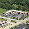 Aerial photo of Dyer, Indiana over US 30 (Joliet St, Lincoln Highway). Svago Cafe, Vino Tini, Pop's Italian Beef. - August 2012