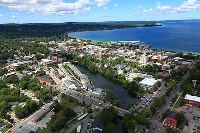 Aerial photography of Traverse City, Michigan