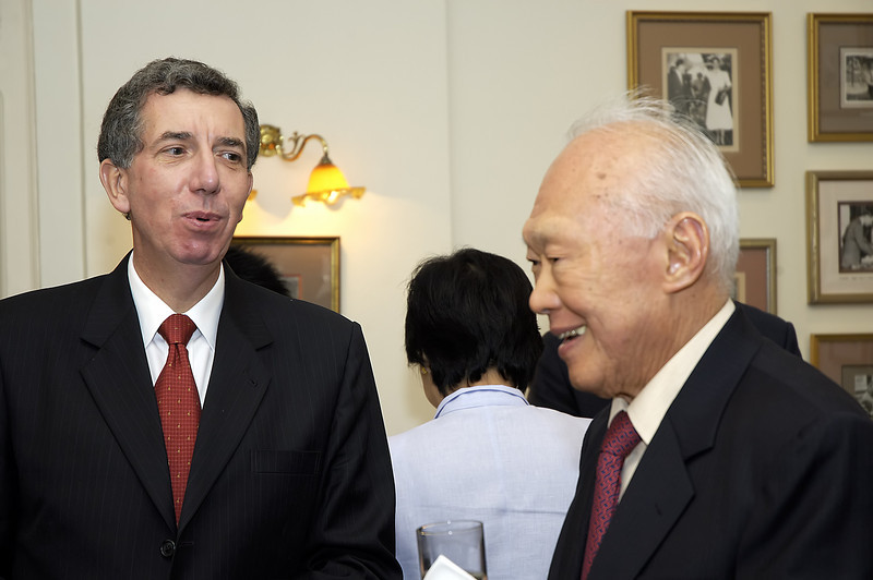 Lee Kuan Yew and Alan Collins