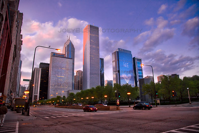 Blue Hour Sunset in Chicago