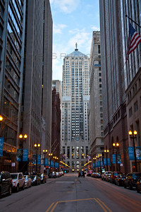 The LaSalle Canyon in downtown Chicago, Illinois