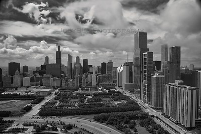 Aerial Chicago at Millennium Park