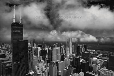 Aerial photo of Chicago near Willis Tower