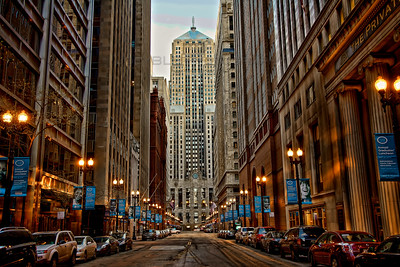 LaSalle Street in downtown Chicago - LaSalle Canyon