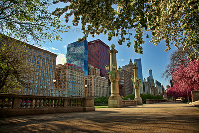 A Spring Evening in downtown Chicago