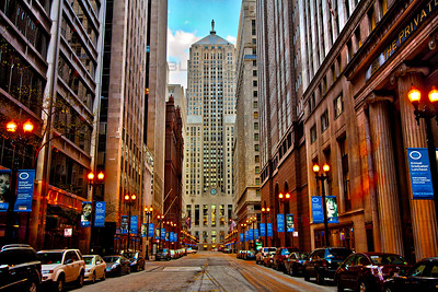 Chicago Illinois LaSalle Canyon Vibrant