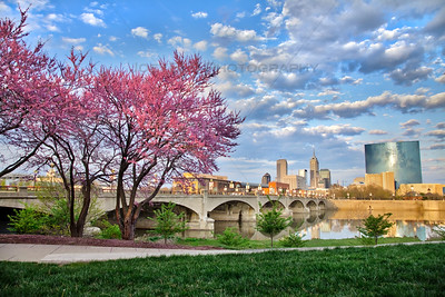Spring in Indianapolis Indiana on the White River