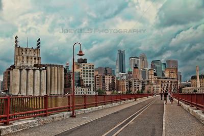 Downtown Minneapolis from Stone Arch Bridge