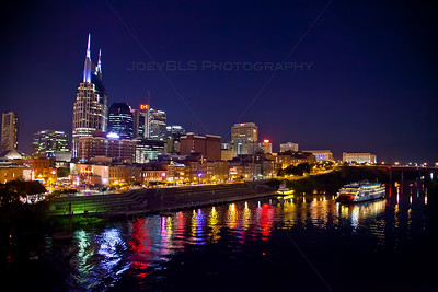 Downtown Nashville, Tennessee Skyline at Night