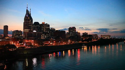 Downtown Nashville, Tennessee Traffic Timelapse
