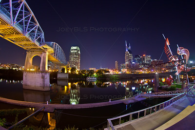 Downtown Nashville from Across the Cumberland River