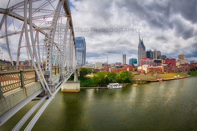 Downtown Nashville, Tennessee on the Cumberland River