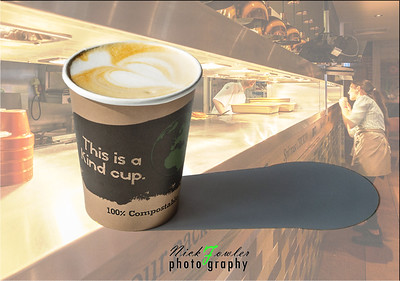 Eco-friendly drinks packaging shoot coffee cup