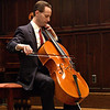 Bach Lunch Series- Larry Stomberg, the new assistant professor of music playing the cello.<br /> photo by:  Kevin Quinlan<br /> 10-20-04