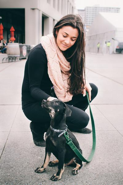 Gabriella and her little puppy