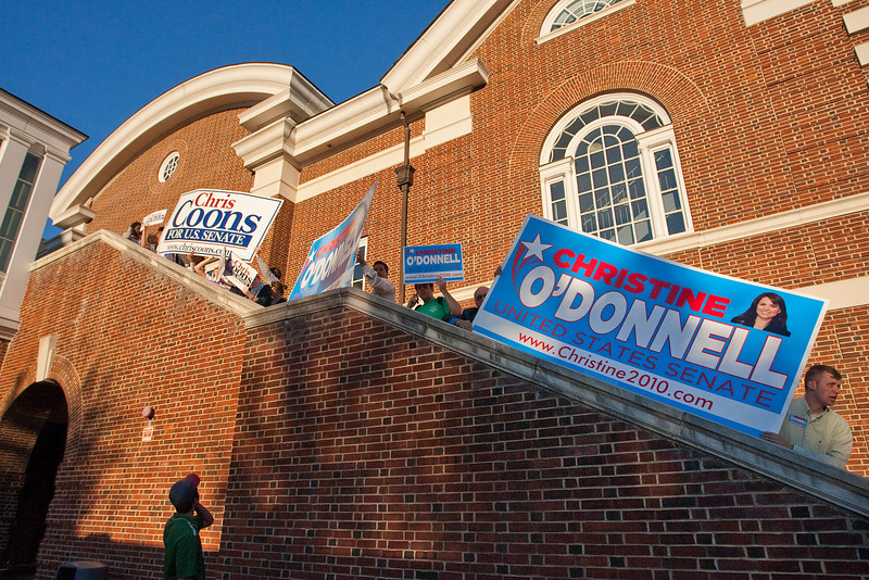 Delaware Senate Debate at UD's Mitchell Hall:  Chris Coons vs. Christine Odonnell