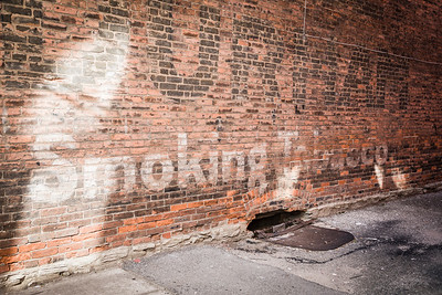 Bill Durham Smoking Tobacco Ghost Sign in Frankfort, Indiana