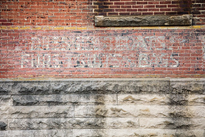 Ghost Sign in Logansport, Indiana - Dresses, Coats, Furs, Suits, Bags
