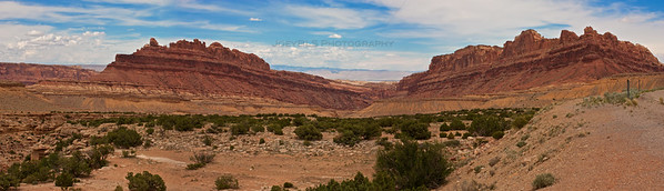 The Black Dragon Canyon landscape near Green River, Utah just north of I-70.