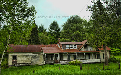 Old house on State Road 14 in South Woodbury, Vermont near Sabin Pond.