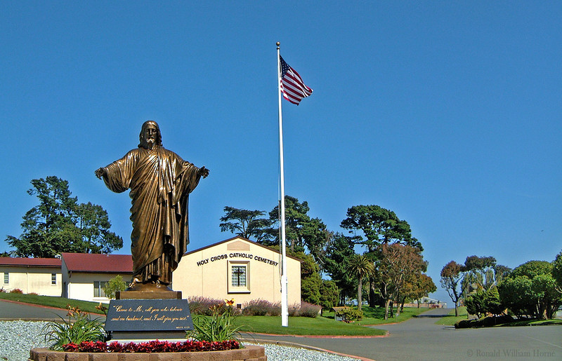 Entrance - Holy Cross Cemetery, Colma, CA