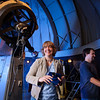 Photos of Judi Provencal and a grad student at the Mt. Cuba Observatory in Greenville Delaware