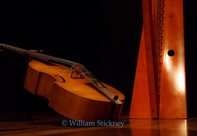 Baroque Cello and Harp.