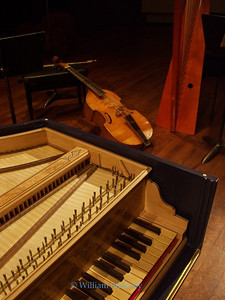 Harpsichord, Baroque cello and harp.