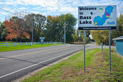Bass Lake, Indiana Welcome Sign