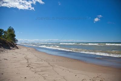 Lake Michigan Beach at Beverly Shores, Indiana