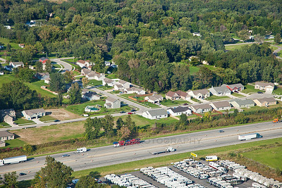 Aerial Burns Harbor, Indiana and I-94