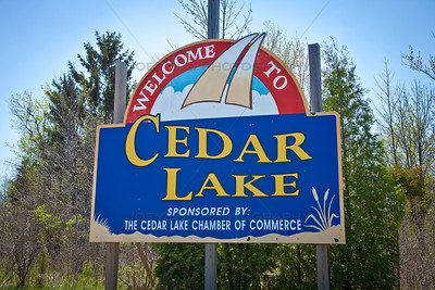 Cedar Lake, Indiana Welcome Sign