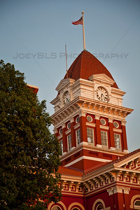 Old Lake County Courthouse at Sunset