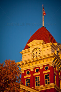 Old Lake County Court House at Sunset